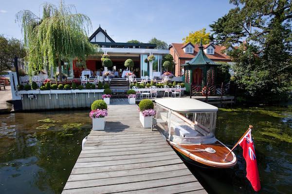 The Waterside Inn vu de la rivière©