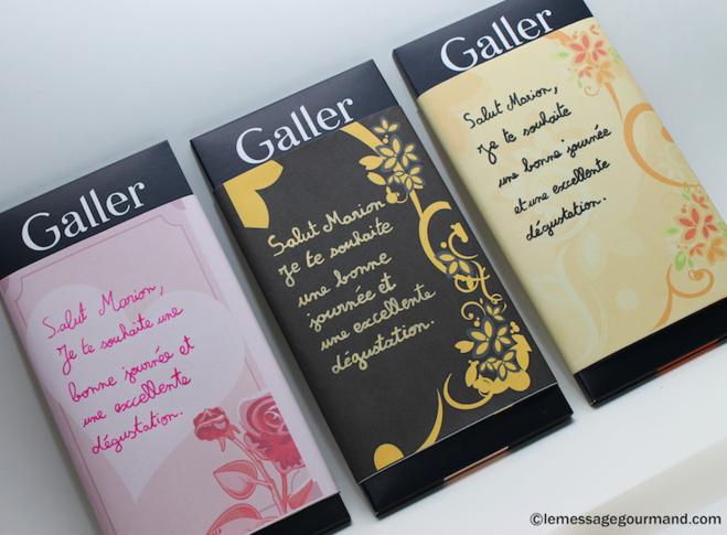 Les tablettes de chocolat personnalisées par message gourmand©