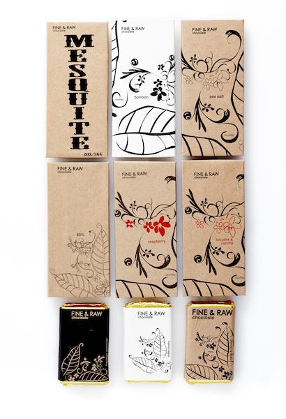 "Les tablettes ""signature"" de Fine and Raw chocolates©"