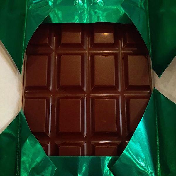 Tablette de chocolat par Letterpress Chocolates©