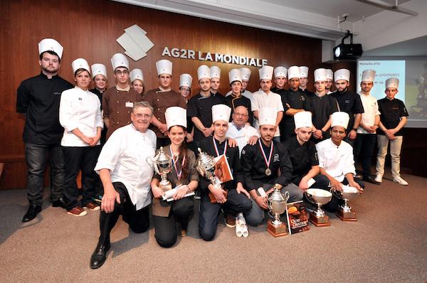 Les lauréats de la Coupe de France des Jeunes Chocolatiers Confiseurs 2016©