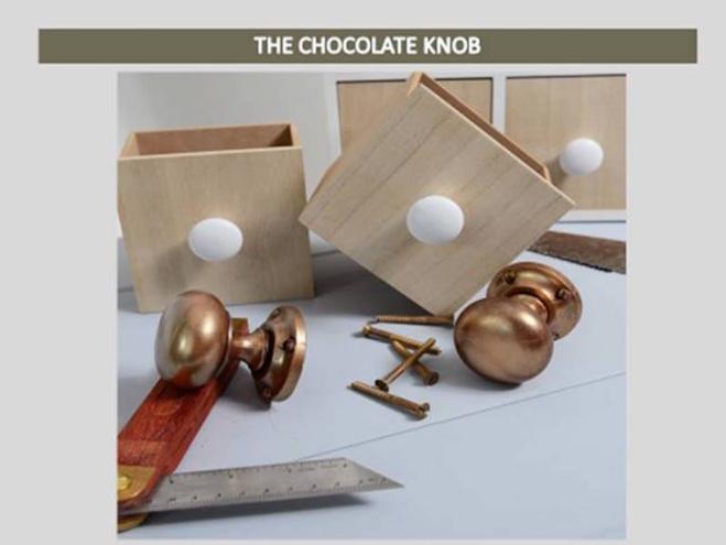 Poignées de porte en chocolat par Shokolat©