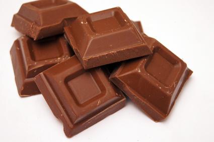 Carrés de chocolat au lait©