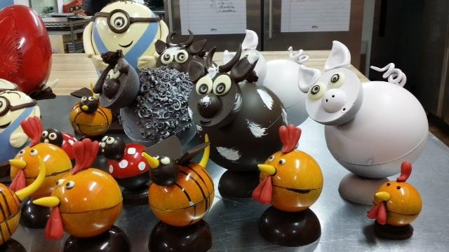 Les sculpture en chocolat de Derrick Pho© Derrick Pho
