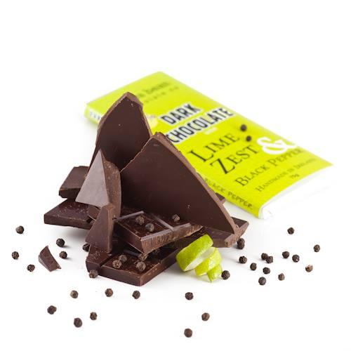 Tablette Cocoa Beans-Lime Zest-Black Pepper par Skelligs©