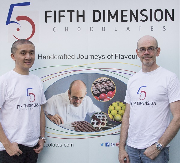Les co-fondateurs de Fifth Dimension Chocolates- Albert and Russell