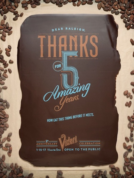 Poster en chocolat par Videri©