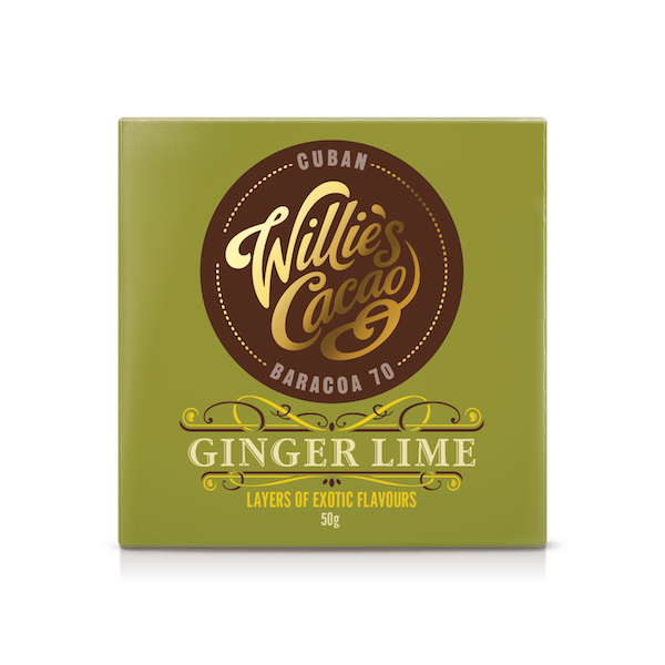 Chocolat de Willie's Cacao Citron vert et Gingembre©