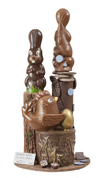 Chocolaterie MONBANA - piece artistique- Pâques 2017©
