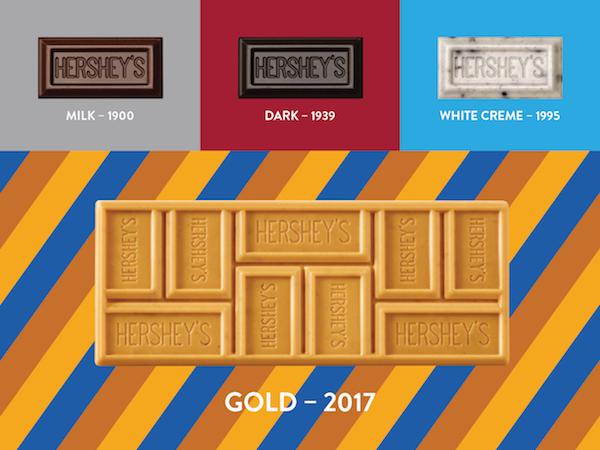 Le quatrième parfum de Hershey Chocolat_ HERSHEY'S GOLD©