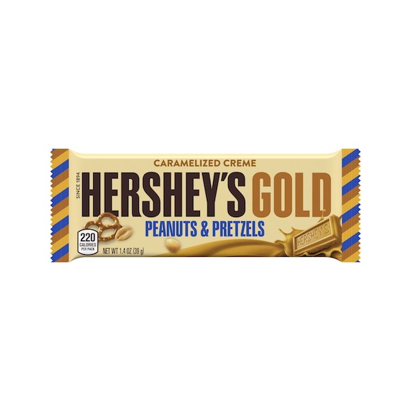 Hershey's Gold Caramelized Creme Peanuts & Pretzels©