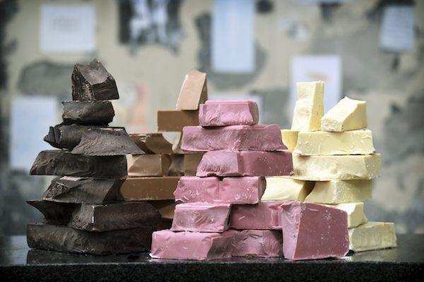 Chocolat noir, blanc et ruby©Barry Callebaut