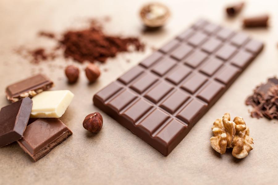 délicieuse barre de chocolat