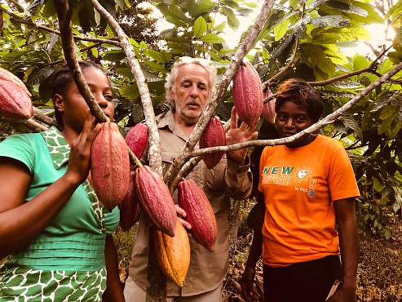 Le chocolatier Daniel Mercier se donne à fond pour soutenir le cacao culture