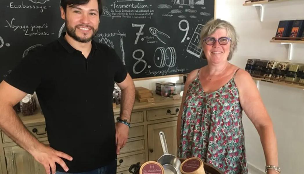 Le chocolatier torréfacteur Mathieu Taborcia et Christine Girard
