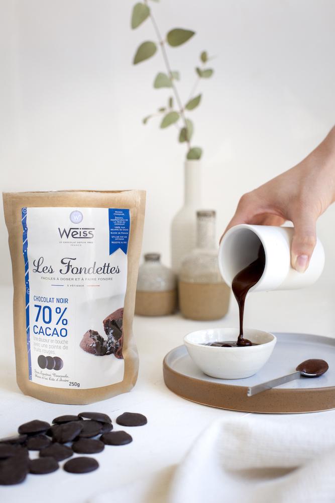 Les Fondettes de Weiss à 70% de cacao