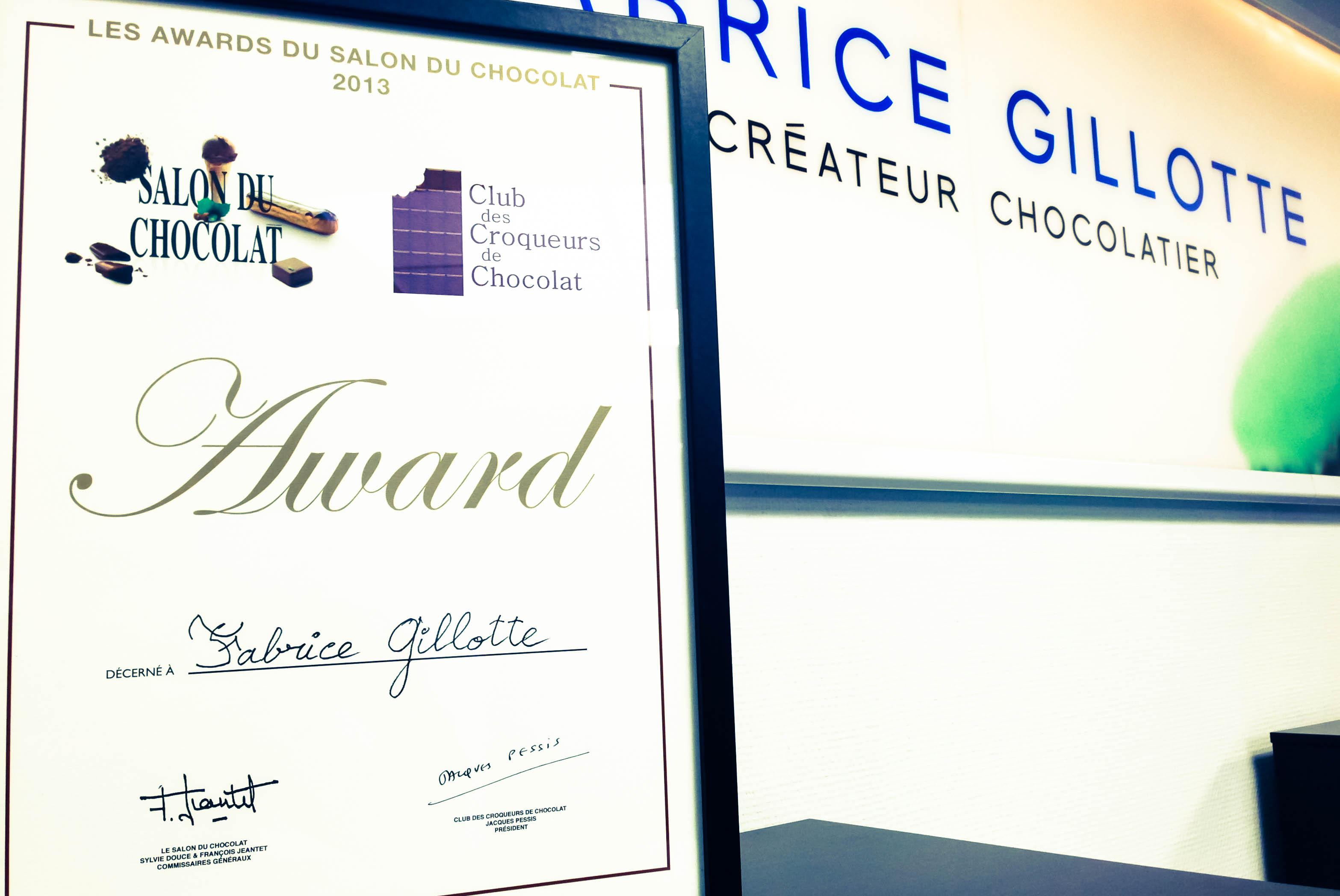 © Award de Fabrice Gillotte au Salon du Chocolat 2013