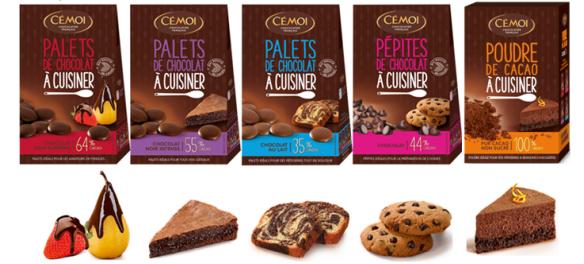 Palets de chocolat CÉMOI