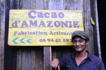 Panneau Cacao d'Amazonie et portrait
