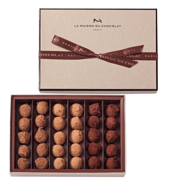Les truffes à l'alcool de la Maison du Chocolat© photo Laurent Rouvrais
