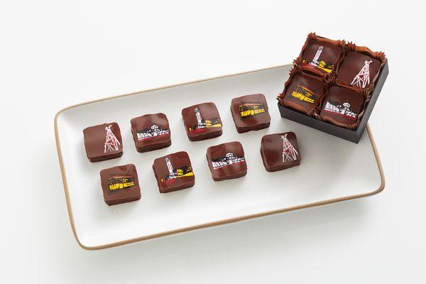 Les batiments de San Francisco sur les chocolats Recchiuti© photo Tom Seawell