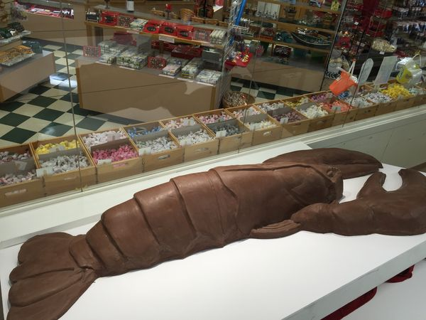 Le homard and chocolat de Haven Chocolates© Erin Collins - Owner - Haven's Candies
