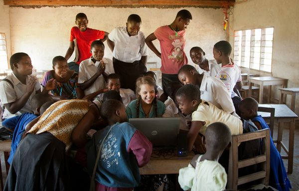 Echanges entre éléves en Tanzanie via l'université du Chocolat d'Askinosie©Askinosie Chocolate