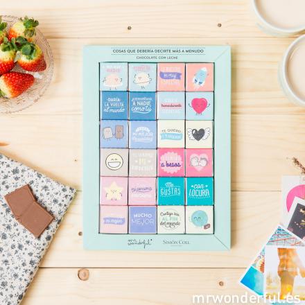 Les carrés de chocolat St Valentin par Simon Coll pour Mr Wonderful©