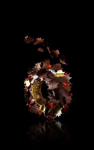 La couronne de noël 2015 par la Maison du Chocolat©