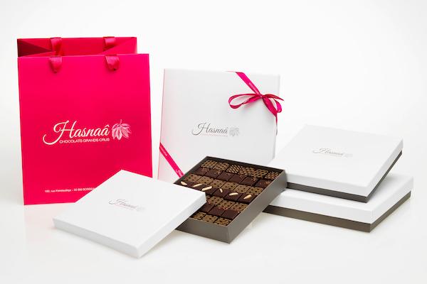 Gamme de chocolats Hasnâa©Frank Brunet D'aubiac