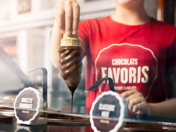 Les glaces enrobées au chocolat par Chocolat Favoris©