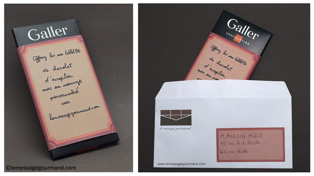 Idée cadeaux- une tablette de chocolat à personnaliserpar Message Gourmand©