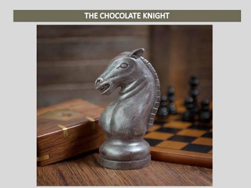 Cavalier en chocolat par Shokolat©