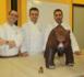 Un ours en chocolat de 32 kilos élaboré par l'école de Pastelería del Gremio de Barcelone