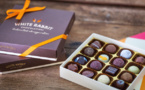 Assortiment de chocolats par White Rabbit chocolatier©