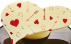 Avalanche de cœurs au chocolat pour la Saint Valentin
