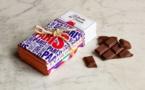 Le Chocolat des Français, une tablette de chocolat 100% bleu-blanc-rouge
