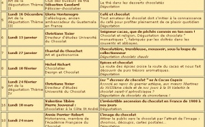 Université du Chocolat à Paris - année 2002/2003