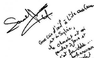 Autographe de la Championne d'Escrime Laura FLESSEL COLOVIC