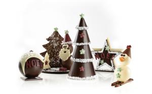 Noël chocolaté aux couleurs traditionnelles avec Réauté Chocolat.