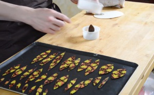 La Technique de l'emporte pièce avec fleur chocolat