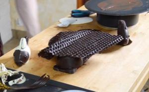 Le montage de poissons en chocolat pour un décor de fou