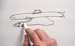 Le dessin technique pour la réalisation du poisson chocolat