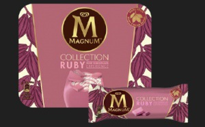 MAGNUM RUBY, la première glace au chocolat Ruby