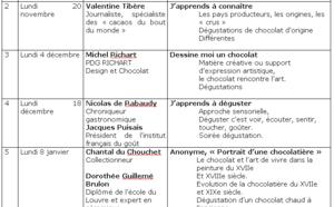 1e Université du Chocolat à Paris année 2000-2001