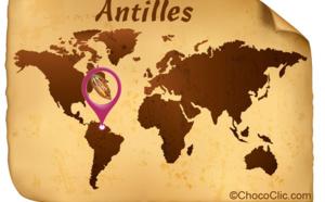 La provenance des fèves de cacao des Antilles
