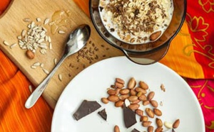 Avoine au chocolat végétalien
