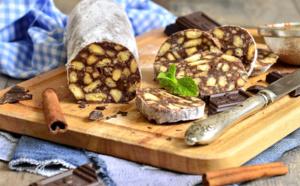 Saucisson au chocolat: la recette pour la préparer en 10 minutes