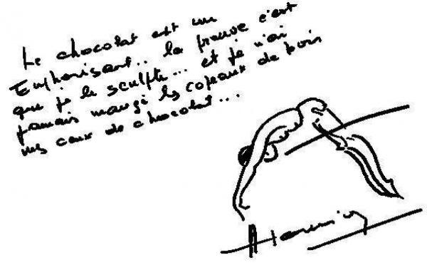 Autographe de Maurice HOUVION de nombreuses fois recordman
