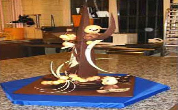 Pièce artistique en chocolat de Christian Rasoanaivo